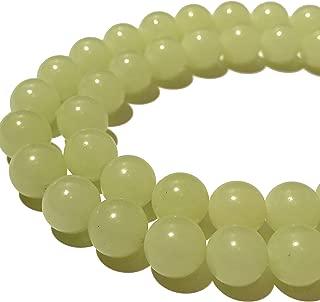 green calcite beads