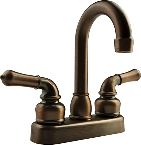 Dura Faucet DF-PB150C-ORB RV Bar Faucet with Classical Levers - 6-inch Spout (Oil-Rubbed Bronze)