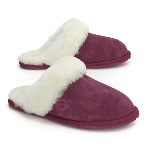 Clothing, Shoes & Accessories Strict New Slippers Womens Size 10 Shearling Suede-sheepskin Slippers Kirkland Signature Brown