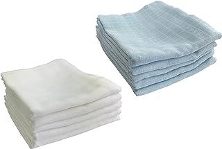 M.M.C. Förpackning med 10 gasvävsblöjor   spotdukar 100 % bomull – tygblöjor gasvävsdukar för baby   Eko-TEX certifierad, ...