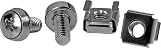 StarTech.com 50 Pkg M6 Mounting Screws and Cage Nuts for Server Rack Cabinet (CABSCREWM6)