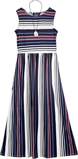 Amy Byer Girls' Big High-Waisted Maxi Dress