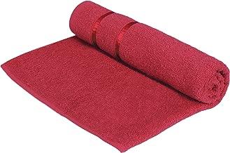 Story@Home Sensational 100% Cotton Soft Bath Towel Single Piece, 450 GSM - Men and Women Bath Towel -Dark Red