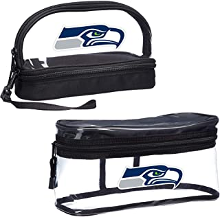Officially Licensed NFL 2-Piece Travel Set - Toiletry Bag for Men or Women, Dopp Kit, Cosmetic and Shaving Bag, Clear, 10....