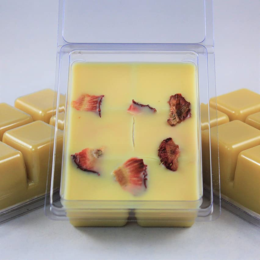 Strawberry Cheesecake Scented. Juicy Strawberries and Rich Cheesecake. Soybean Blend Wax Melt. Hand Poured by Twisted Oaks Wax Works, Nebraska.