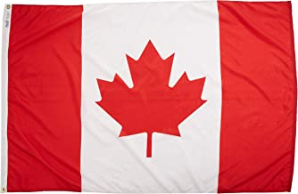 Annin Flagmakers Model 191340 Canada Flag Nylon SolarGuard NYL-Glo, 4x6 ft, 100% Made in USA to Official United Nations Design Specifications