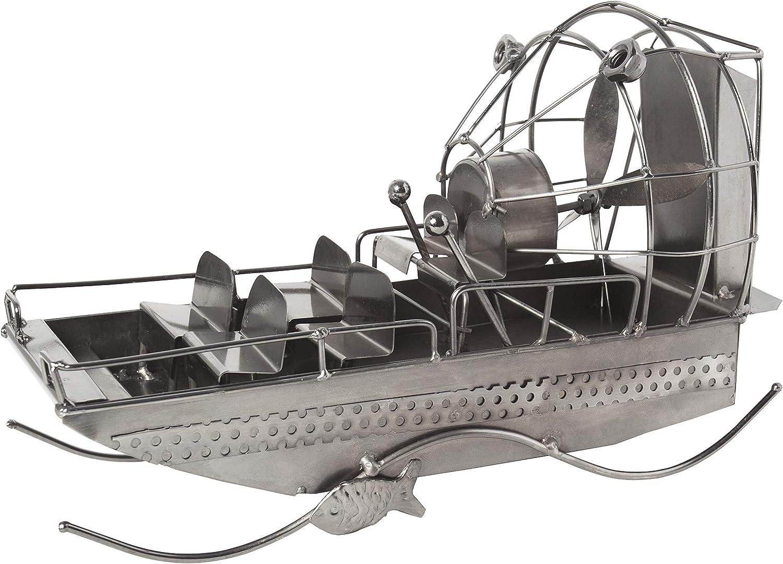 BRUBAKER Metal Sculpture Airboat - Home Decor
