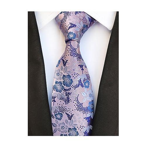 a8243907e9ba8 Men's Tie Cravat Jacquard Luxury Small Floral Pattern Wedding Necktie by  Elfeves