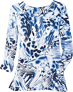 Alfred Dunner Women's Exploded Butterfly Print Knit Top