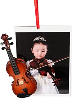 Music Treasures Co. Picture Frame Ornament with Violin