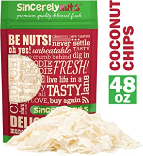 Sincerely Nuts Coconut Chips (Unsweetened)(3 LB) Shaved and Dried Snack Food - Keto, Paleo, Raw, Vegan, Kosher, Low Carb and Gluten Free Snacking
