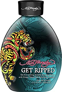 EH Get Ripped Cooling Bronzer Tattoo Fade Protection Tanning Lotion 13.5 oz.