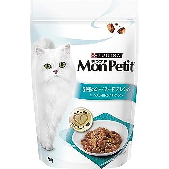 モンプチ バッグ 5種のシーフードブレンド キャットフード かに・えび・鯛・かつお・まぐろ味 成猫用 600g