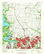 YellowMaps Haltom City TX topo map, 1:62500 Scale, 15 X 15 Minute, Historical, 1955, Updated 1964, 20.9 x 17 in
