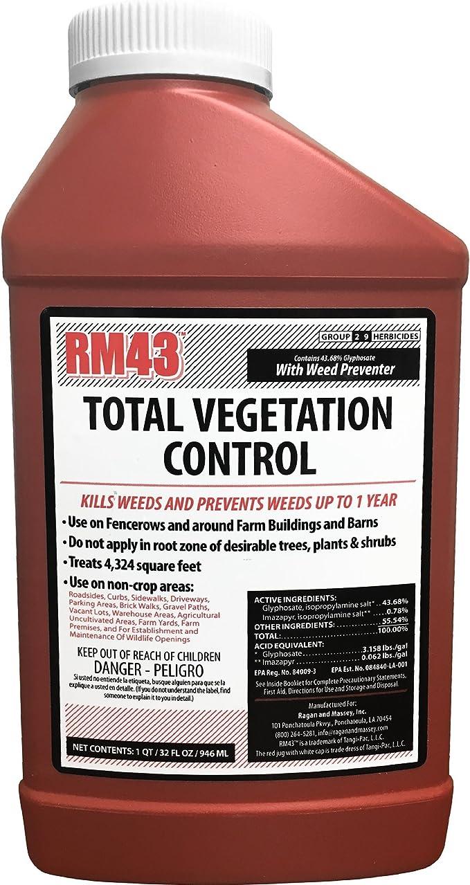 RM43 76502 32Oz Total Veg Control Glyph Imazapyr Weed Preventer, 0.25 - Gallon