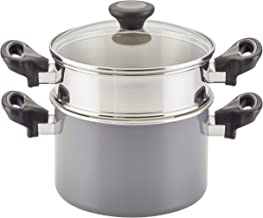 Farberware Go Healthy Nonstick Saucepan/Saucepot with QuiltSmart Technology, 3 Quart, Gray