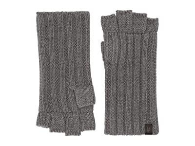 AllSaints Ribbed Cut Off Finger Gloves (Grey Marl) Extreme Cold Weather Gloves