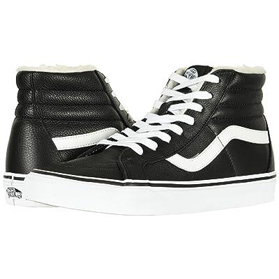 Vans SK8-Hi Reissue ((Leather/Fleece) Black/True White 2) Skate Shoes