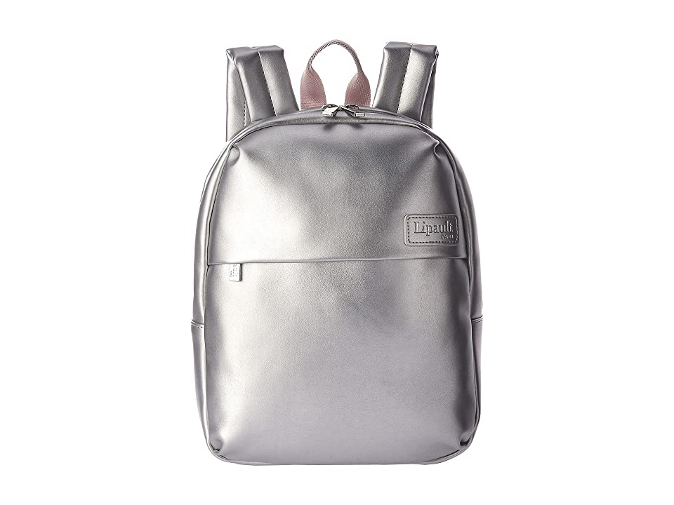 Lipault Paris Miss Plume X-Small Backpack (Silver) Backpack Bags