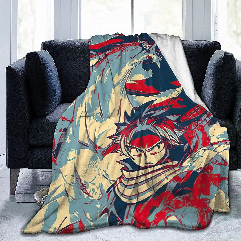 Fairy Finally popular brand Tail Natsu Dragneel Anime Blanket Novelty Blan Oakland Mall All-Seasons