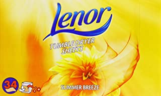 Lenor Tumble Dryer Sheets Summer Breeze 34 Sheets (Pack of 3