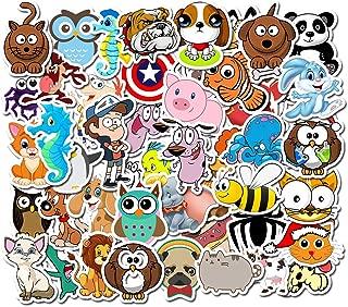 Ratgoo 50 Pcs Cute Animal Dog Cat Pig Owl Vinyl Stickers for Laptop Hydro Flasks Water Bottles Mac Computer Phone Pad Guitar Helmet Luggage Case to Kids Teens Girls Women Gift