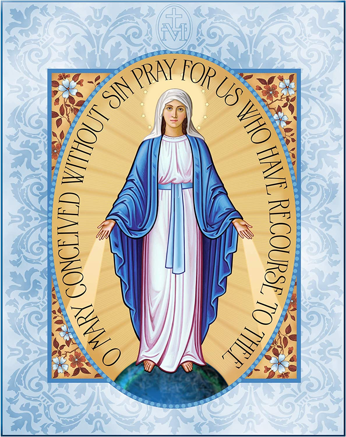 Monastery Icons Miraculous Medal of Mounted The Virgin Mary Miami Mall Plaq Nippon regular agency