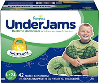 Pampers UnderJams Bedtime Overnight Protection Underwear For Boys L/XL 42 Count by Gravitymystore