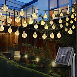Etmury Solar String Lights Outdoor, 30 LED Crystal Ball Fairy Lights Waterproof Solar Powered String Lights for Garden, Ho...