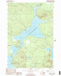 YellowMaps Churchill Lake ME topo map, 1:24000 Scale, 7.5 X 7.5 Minute, Historical, 1989, Updated 1989, 26.7 x 21.5 in