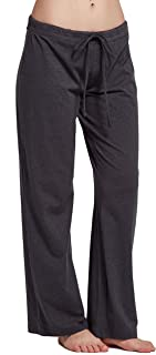 CYZ Womens casual stretch cotton pajama pants simple lounge pants charcoal
