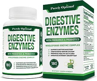 Premium Digestive Enzymes Plus Prebiotics & Probiotics - Digestive Enzyme Supplement for Better Digestion, Immune Support,...