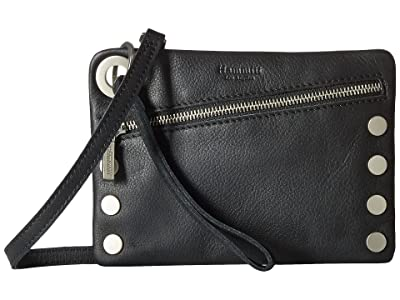 Hammitt Nash Small (Black/Brushed Silver) Handbags