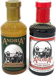 Andria's | House Salad Dressing & Brush on Steak Sauce