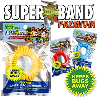 Superband Premium: Insect Repellent Bracelet - Blue Packaging - (50 Pack)
