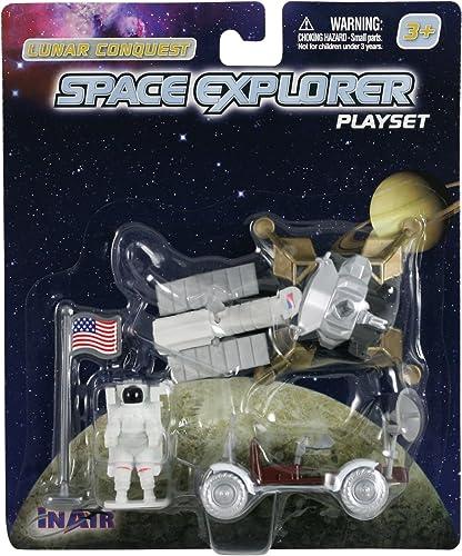 WowToyz Lunar Lander with Moon Rover (5 Piece Playset)