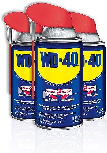 WD-40 Multi-Use Product with SMART STRAW SPRAYS 2 WAYS, 8 OZ [3-PACK]