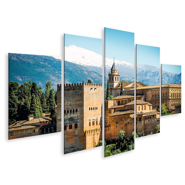 islandburner Cuadro en Lienzo Vista de la Famosa Alhambra de Granada España Cuadros Modernos Decoracion Impresión Salon: Amazon.es: Hogar