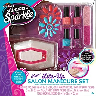 Shimmer N Sparkle Manicure Magic Lite Up Nail Dryer & Polish Set Manicure Set (17648)
