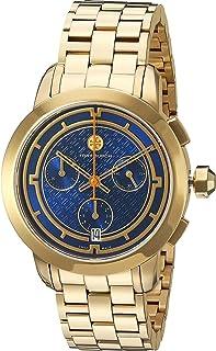 Tory Burch Women's Quartz Watch With Silver 37Mm Stainless Steel Swiss Quartz Bracelet Trb1013, Analog Display