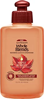 Garnier Whole Blends Restoring Leave-in Conditioner Maple Remedy, For Dry, Damaged Hair, 10.1 fl. oz.