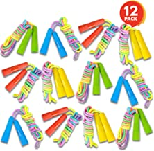 ArtCreativity 7.5ft Rainbow Jump Rope Set - 12 Pack - Vibrant Jumping Ropes for Kids - Durable Nylon Skipping Ropes - Great Birthday Party Favors, Goodie Bag Fillers, Gift Idea for Boys and Girls