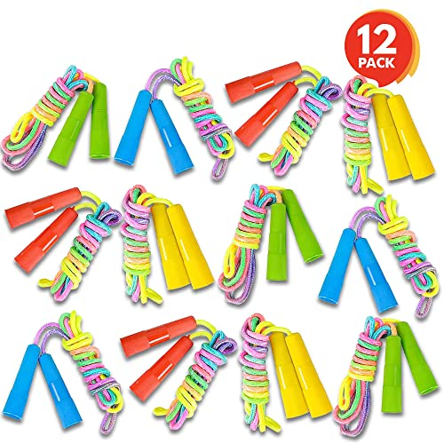 ArtCreativity 75ft Rainbow Jump Rope Set 12 Pack