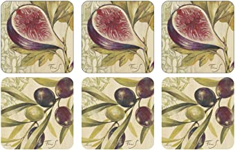 Pimpernel Olive Figs Coasters Set