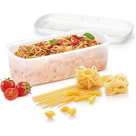 Tescoma 705026 Purity Microwave Cuoci Pasta, Plastica, Bianco, 28.5 x 14 x 10 cm