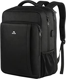 Matein Business Laptop Backpack, Extra Large Anti Theft TSA Friendly Travel Backpack With USB Charging Port, Durable Slim Computer Bag College School Bookbag for Women & Men Fits 17 In Laptop,Black