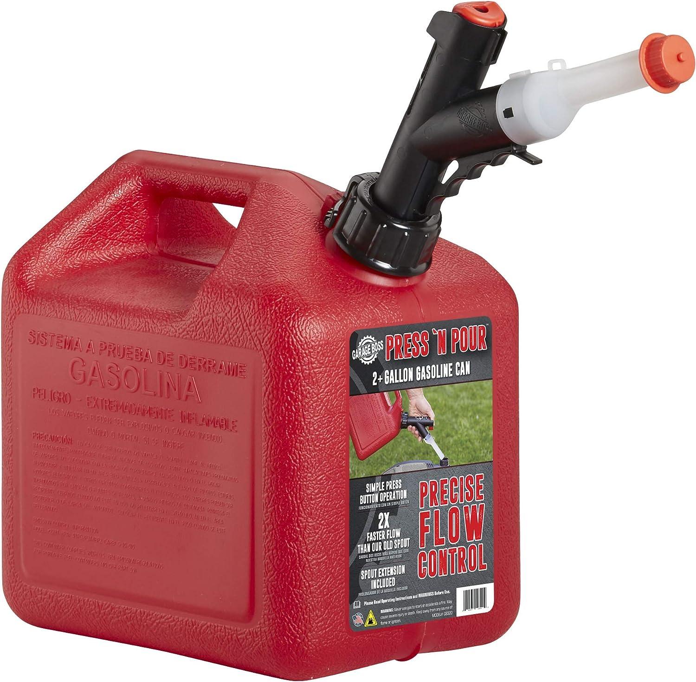 GarageBoss Press 'N Pour 2+ Gallon Gas Can