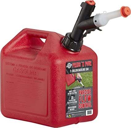GARAGE BOSS GB320 Briggs and Stratton GarageBoss Press 'N Pour 2+ Gallon Gas Can, Red: image