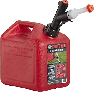 GARAGE BOSS GB320 Briggs and Stratton Press 'N Pour Gas Can, 2+ Gallon, Red
