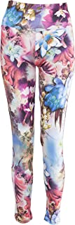 NOROZE Womens Floral Print Leggings Ladies Stretch High Waist Yoga Pants Active Tights